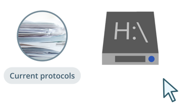 2. Most current protocols are presented each with their own format and can only be accessed from certain locations